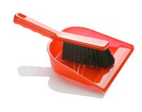 Escova com o dustpan isolado Fotos de Stock Royalty Free