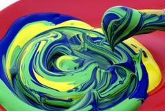 Escova com pintura. Imagens de Stock