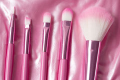 Escova cosmética profissional cor-de-rosa Imagem de Stock Royalty Free