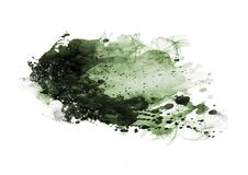 A escova da cor do gráfico de cor da água dos remendos afaga remendos Fotos de Stock