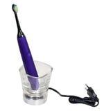Escova de dentes eletrônica ultrassônica isolada no fundo branco Fotos de Stock Royalty Free