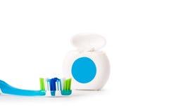 Escova de dentes nova isolada no fundo branco foto de stock