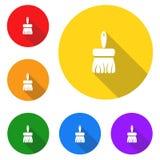 Escova de limpeza, ícone, sinal, a melhor ilustração 3D Fotografia de Stock