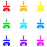Escova de limpeza, ícone, sinal, a melhor ilustração 3D Imagens de Stock Royalty Free