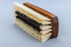 Escova de madeira da sapata Fotos de Stock Royalty Free