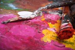 Escova de pintura Imagens de Stock Royalty Free