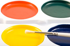 Escova de pintura fotografia de stock