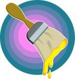 Escova de pintura ilustração stock