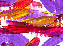 Escova de pintura acrílica das artes da cor da textura do fundo Foto de Stock