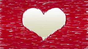 A escova de pintura afaga o símbolo do coração dos formulários filme