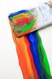 Escova de pintura colorida Foto de Stock Royalty Free