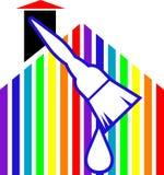 Escova de pintura com logotipo da gota ilustração do vetor