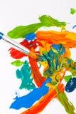 Escova de pintura do artista Fotos de Stock