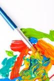 Escova de pintura do artista Fotos de Stock Royalty Free
