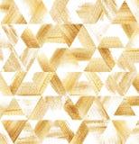 A escova de pintura do ouro afaga o teste padrão ilustração stock