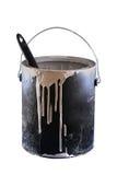 Escova de pintura em uma lata da pintura Foto de Stock Royalty Free