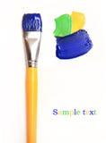 A escova de pintura isolou-se Imagens de Stock Royalty Free