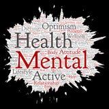 Escova de pintura de pensamento positiva da saúde mental do vetor Imagem de Stock