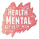 Escova de pintura de pensamento positiva da saúde mental do vetor Imagens de Stock