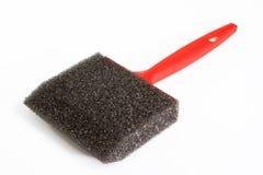 Escova de pintura preta da espuma Imagem de Stock