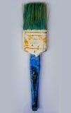 Escova de pintura suja velha Fotos de Stock Royalty Free