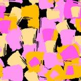 A escova de repetição sem emenda da tinta de matéria têxtil afaga o teste padrão na garatuja g Fotografia de Stock