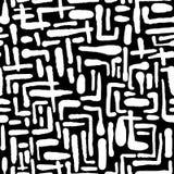 A escova de repetição sem emenda da tinta de matéria têxtil afaga o teste padrão na garatuja g Imagem de Stock Royalty Free