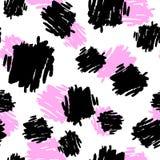 A escova de repetição sem emenda da tinta de matéria têxtil afaga o teste padrão na garatuja g Foto de Stock