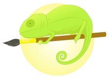 Escova do camaleão ilustração do vetor