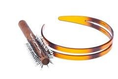 Escova do Headband e de cabelo foto de stock