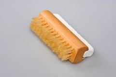 Escova do prego e pedra de polimento Foto de Stock Royalty Free
