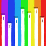 Escova do rolo do arco-íris Foto de Stock Royalty Free