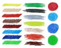 A escova do vetor do arco-íris afaga a coleção Fotografia de Stock