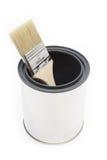 Escova e cubeta de pintura Imagem de Stock Royalty Free