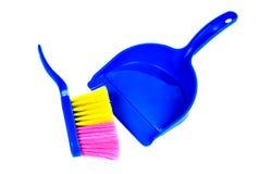 Escova e dustpan isolados imagem de stock