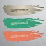 Escova e fundo do Grunge Fotos de Stock