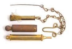 Escova e picareta de fio Imagem de Stock Royalty Free