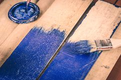 Escova e pintura Imagens de Stock Royalty Free