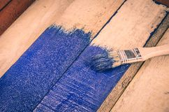 Escova e pintura Foto de Stock