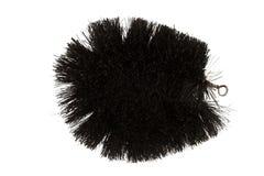 Escova natural da fibra de coco fotografia de stock