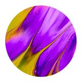 A escova roxa e amarela colorida da tinta shinny o elemento do projeto ilustração stock