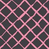 A escova transversal diagonal afaga o teste padrão sem emenda Fotos de Stock Royalty Free