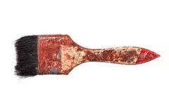 Escova usada no fundo branco Imagens de Stock Royalty Free