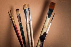 Escovas artísticas Fotos de Stock