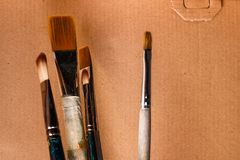 Escovas artísticas Imagens de Stock
