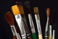 Escovas artísticas criação As artes Assunto da faculdade criadora Fotos de Stock Royalty Free