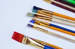 Escovas coloridas do ofício Imagens de Stock Royalty Free