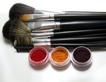 Escovas cosméticas Imagem de Stock Royalty Free
