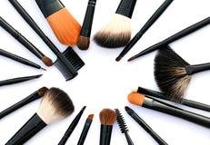 Escovas cosméticas fotografia de stock royalty free