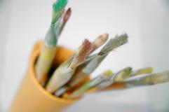 Escovas da arte Fotografia de Stock